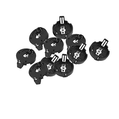 Price comparison product image sourcingmap® 10PCS BS-4-1 Lithium Button Cell Battery Round Holder for CR / LIR2032 2025 2016