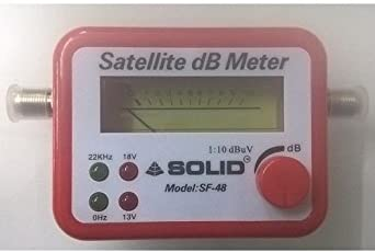 Webshoppers Satellite Signal Finder Meter with Line Tester