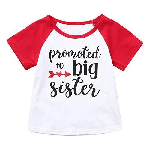 Julhold Sommer Kleinkind Baby Jungen Mädchen Mode Kurzarm Brief Drucken Baumwolle Casual Tops T-Shirt Kleidung 1-5 Jahre