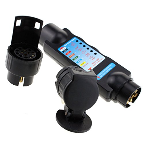 Anhängerbeleuchtung Trailer Tester Anhänger Prüfgerät 7 13 Pol Stecker Dose 12V