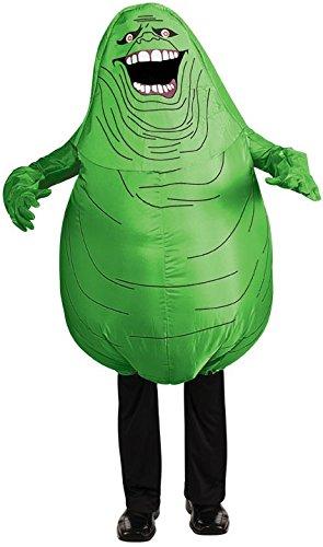 Aufblasbares Ghostbusters Kostüm Slimer Geist Gr. M, Größe:M/L