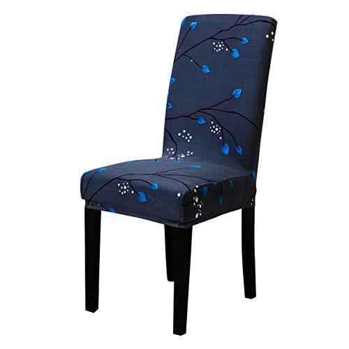 Universal Elastische Stuhlhusse,Stretch Hussen Stuhl Bezug bi-elastische Schutz-Husse, Dekor moderne Spann-Abdeckung mit Gummiband