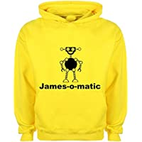 Kids Hoodie Boys Personalised Robot Name Design T-shirt Tee Shirt Custom Gift Choose Colours Birthday Childrens Toddler