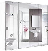 HOMFA Bathroom Wall Mirror Cabinet 27.6 inches, Over The Toilet Space Saver Storage Cabinet Medicine Cabinet Kitchen Cupboard