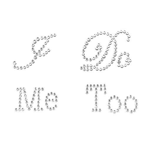 Syndecho I Do & Me Too Acryl Braut Bräutigam Schuh-Aufkleber Sticker für Hochzeitsschuhe (Silber)