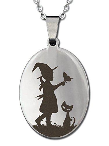 Damen Mädchen Glücksbringer Kette Amulett der Hexe Ruby (45cm) (Damen Halloween Outfit Ideen)