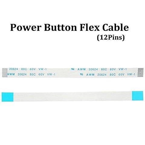 mark8shop Bouton POWER Flex Ruban 12broches Câble pour Sony PS4Playstation 4Contrôleurs