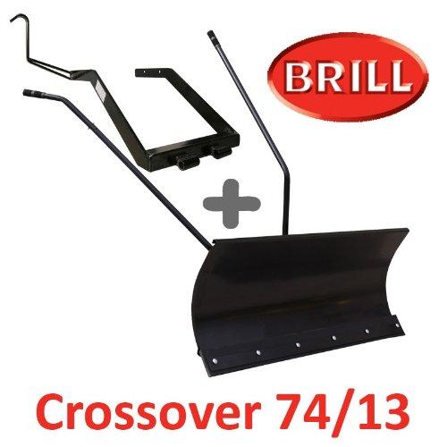 Lame à Neige 118 cm Noire + adaptateur pour BRILL Crossover 74/13