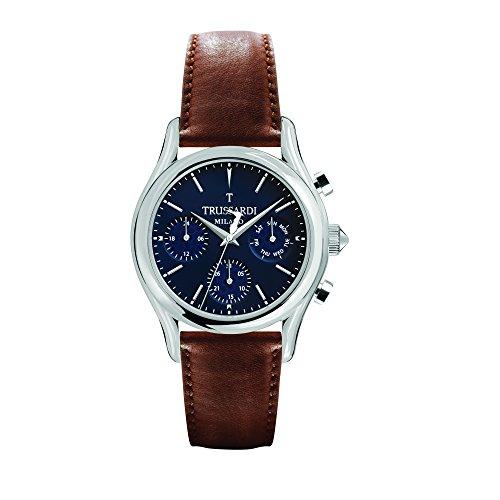 TRUSSARDI Reloj Multiesfera para Hombre de Cuarzo con Correa en Cuero R2451127002