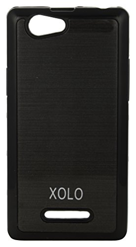 iCandy™ Colourful Shiny Soft Black Border Cover for Xolo A500s - Black