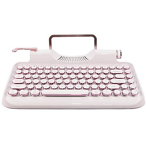 PENKJPS Steam Punk Retro Schreibmaschine Runde Mechanische Tastatur 104 Schlüssel Wasserdicht