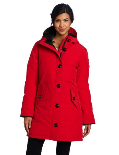 Canada Goose Damen Camrose Parka Coat, damen, rot (Parka Goose Down Hooded)