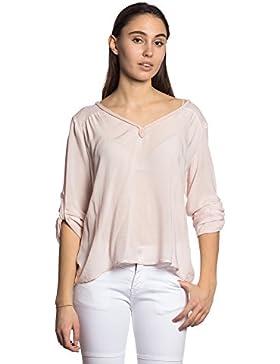 Abbino IG002 Blusas Para Mujer - Hecho EN Italia - Colores Variados - Transición Primavera Verano Otoño Mujeres...