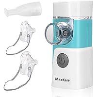 Preisvergleich für Inhalator Vernebler, Tragbar Inhaliergerät mit Mundstück und Maske, Geräuscharmer Inhalationsgerät mit Schwingmenbaran-Technologie...
