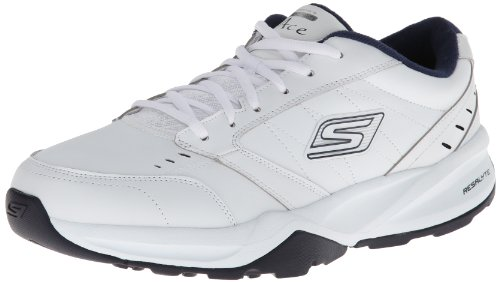 Skechers Go Train Ace, Sandales d'athlétisme et sports de plein air homme Blanc (White Navy)