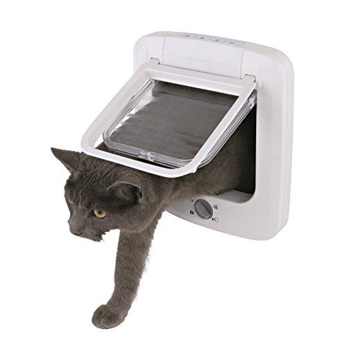 Puerta para gatos TRIXIE Gatera 4 posiciones Blanco