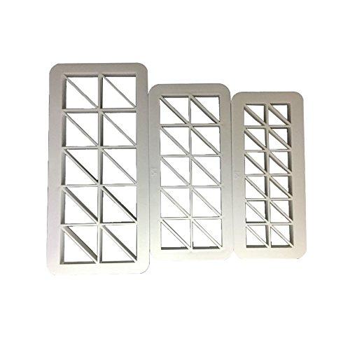 3rechts Dreieck Kunststoff Cookies Cutter Decorative Art Fondant Kuchen Form-Weiß gzzebo
