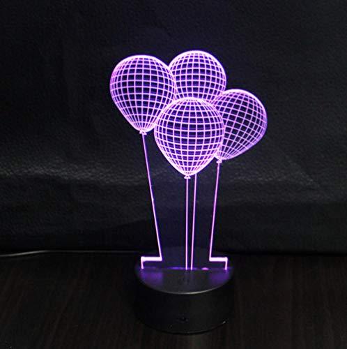 ZJFHL 3D óptico Illusions LED Lámparas Globo aerostático Forma USB LED lámpara de mesa de noche luz hogar habitación decoración niños juguete regalo de Navidad a mi lado