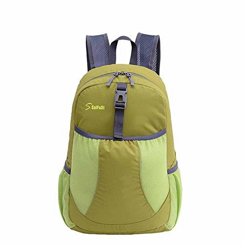AllureFeng Outdoor-klappbare 30L wasserdichter Rucksack Tasche Männer und Frauen reisen Rucksack Green