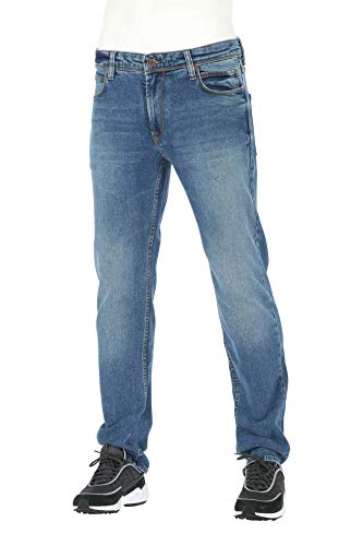 Reell Nova 2, Vintage Mid Blue 36/32 Artikel-Nr.1104-008 - 02-001 - Original Rise Relaxed Fit Jeans