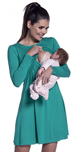 b68b2ef09f9c Zeta Ville – Vestito a strati allattamento prémaman manica lunga – donna ...