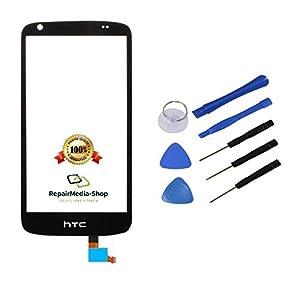 HTC Desire 526 D526 Touchscreen Display Glas Digitizer Lens Scheibe Schwarz + Werkzeugset