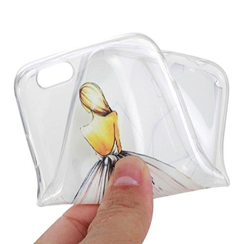 Beiuns pour Apple iPhone 6 (4,7 pouces) Coque en Silicone TPU Housse Coque - HX515 attrape rêve HX512 vue de dos