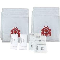 CAOQAO 10 Sac FJM Haute Filtration Hygiene Sachet Filtre Papier Et 2 filtres pour aspirateur Miele GN pour Aspirateurs pour Miele F S241-262, S291-299, J S300-399, M S500-599, S700-799