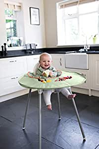 Tidy Tot All-in-One Bib and Tray Kit. Unisex. One Size 6m – 2y. BLW Essential. (Sage Green)