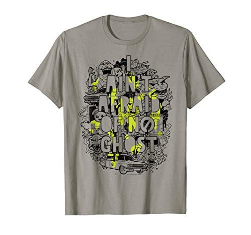Ghostbusters Ain't Afraid Collage Slime Drip Poster T-Shirt -