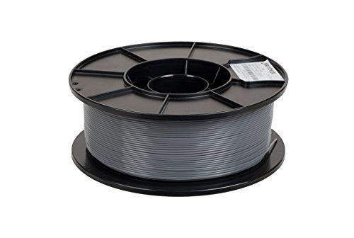 JANBEX PLA Filament 1,75 mm 1kg Rolle für 3D Drucker oder Stift in Vakuumverpackung (Grau)