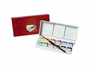 Winsor & Newton Artists' Water Colour Half Pan Pocket Box Drawing Set