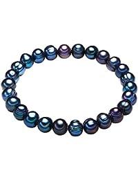 Valero Pearls - Pulsera de perlas embellecida con Perlas de agua dulce - Pearl Jewellery, Pulseras - 446645