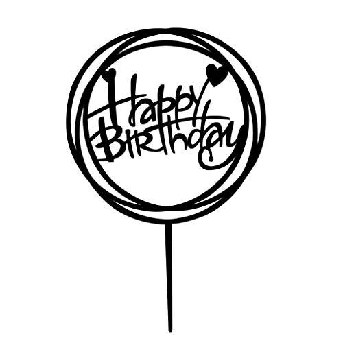 Topker Quadrat Rund Alles Gute zum Geburtstag Brief-Kuchen-Deckel Acryl DIY Kuchen-Kuchen-Smash-Kerze-Partei-Handmade-Stick