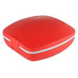 Jaypee plus, Power Meal with Steel, Electric Lunch box, 2 SS Container,Red