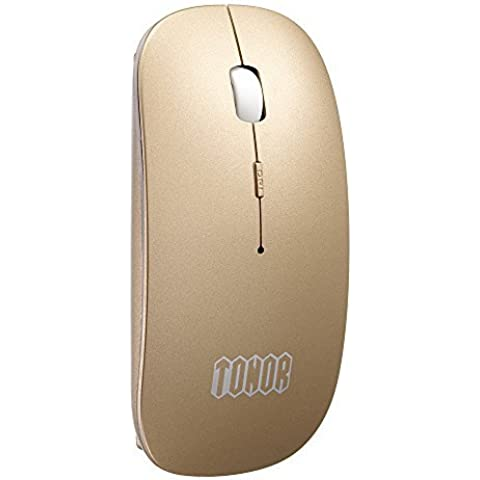 Tonor Bluetooth Recargable Mudo Inalámbrico Ratón- Super Delgado Más Nuevo Versión, Silencio ratón Compatible con Win 7/8/Vista/Mac/Android.