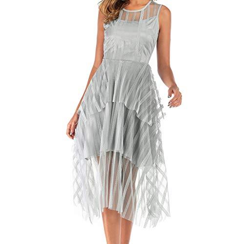Kostüm Flapper Silber - Kingko ® Damen 1920s Kleid Flapper Charleston Kleid V Ausschnitt Great Gatsby Motto Party Damen Fasching Kostüm Kleid (Silber, L)