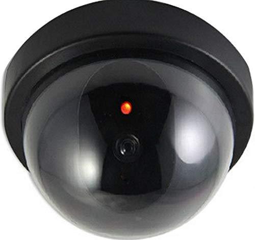 2X Domkameras Dummy Kamera Attrappe mit Objektiv und Blinkled Videoüberwachung Warensicherung