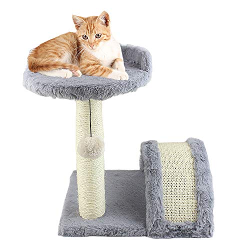 CWZJ Cat Scratching Post, Play Station Trebing Kratschen Ball Swing Kitten Soft Cat Tree Cat Scratcher Spielzeug -