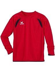 erima Trikot Tanaro langarm - Camiseta de equipación de fútbol para niño, color rojo, talla 8 años (128 cm)