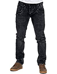 Reslad Jeans-Herren Slim Fit Basic Style Stretch-Denim Jeans-Hose RS-2064