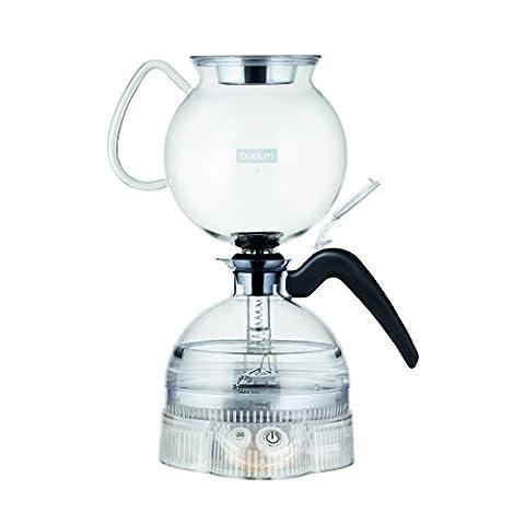 Bodum 11744-01 ePEBO Cafetière Électrique à Dépression 8 Tasses - 1,0 L