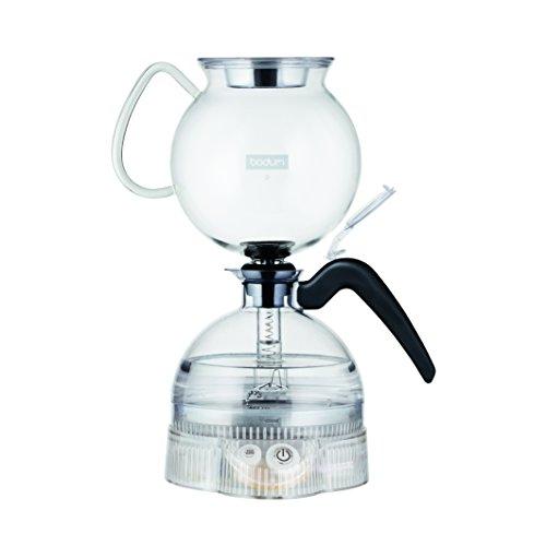 Bodum ePEBO Elektrischer vakuum kaffeebereiter, 8 Tassen, 1.0 L, 1000 W, Transparent