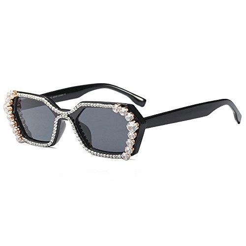 Sonnenbrillen Mode Damen Sonnenbrillen Unregelmäßige Polygon Kristall für Frauen UV-Schutz Fahren Sonnenbrillen Lady Luxury Sunglasses