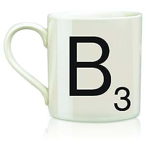 "Scrabble ""B"" Mug, Cream"