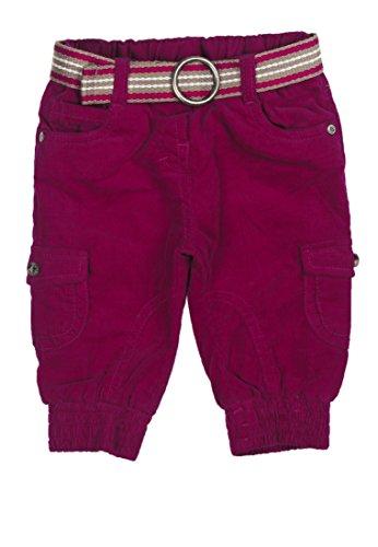 Steiff Baby - Mädchen  Hose Cord 6443124, Einfarbig, Gr. 110, Rot (sangria|red 2031)