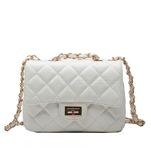 Yy.f Handtaschen Mode Gezeiten Tasche Schlug Schulterbeutel Der Farbe Messenger Süßigkeiten Paket Frau Kleine Taschen Bunten Taschen Black