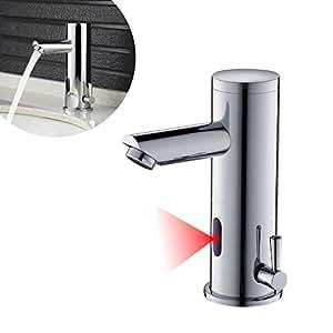 auralum robinet infrarouge ir automatique d 39 eau chaude et froide pour lavabo salle de bain en. Black Bedroom Furniture Sets. Home Design Ideas