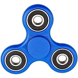 Luomike-Fidget Spinner, Hand Spinner Fidget Juguete Anti Ansiedad para Niños y Jóvenes Adultos Juguete Educación Juguetes de Aprendizaje (azul)