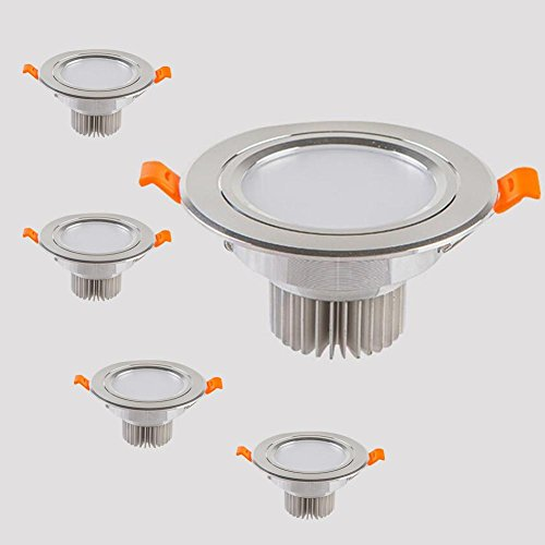 OOFAY LIGHT® Packung mit 4, 5W LED Deckenspot Einbau Downlight Super hell Runde Deckenleuchte 5730 SMD Spotlight - 90 mm Ausschnitt 70 mm Tiefe , B , warm white 3000K